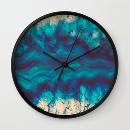 Blue Agate River of Earth Wall Clock