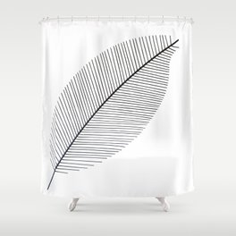Leaf minimalism decor | black and white minimalism | Magnolia inspired designs Shower Curtain