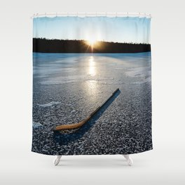 Ice Time Shower Curtain