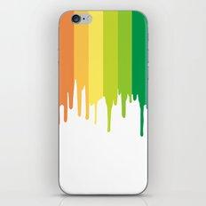 rainbow paint drips iPhone & iPod Skin