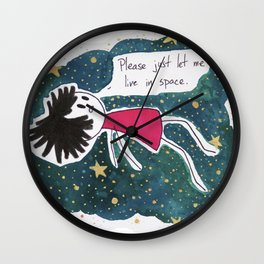 Let Me Live in Space Wall Clock