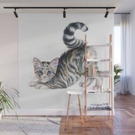 Yoga Kitten Wall Mural