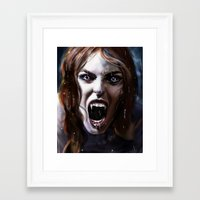 bride Framed Art Prints featuring Bride by Lily Fitch