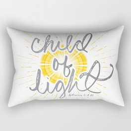 "EPHESIANS 5:8-10 ""CHILD OF LIGHT"" Rectangular Pillow"