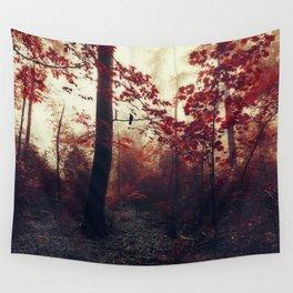 Scarlet Wilderness Wall Tapestry