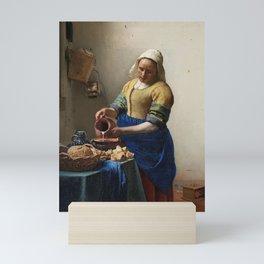 The milkmaid, Johannes Vermeer, ca. 1660 Mini Art Print