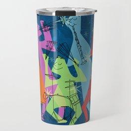 Mid-Century Modern Jazz Band Travel Mug