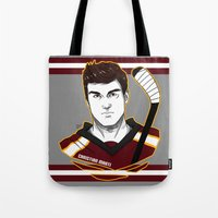 christian schloe Tote Bags featuring Christian Marti by Kana Aiysoublood