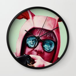 I'll shoot your eyes out Wall Clock
