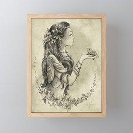Kissing the Frog Prince Framed Mini Art Print