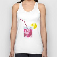 cocktail Tank Tops featuring Cocktail by Alessandra Gagliano