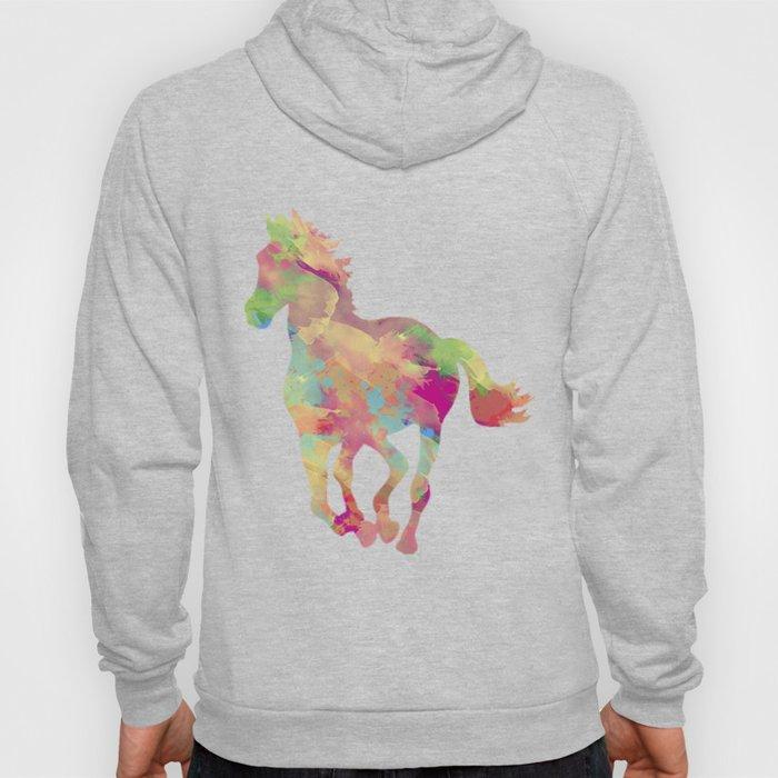 Abstract horse Hoody