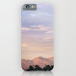 Sunset over Saddleback Mountain iPhone Case