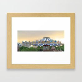 Carrousel at Sunset Framed Art Print