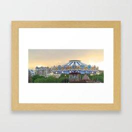 Carrousel at Sunset Framed Art Print