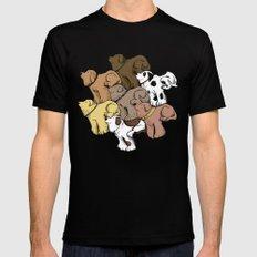 Dog Tessellation MEDIUM Mens Fitted Tee Black