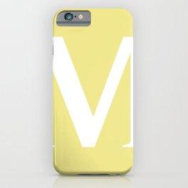 M MONOGRAM (WHITE & KHAKI) iPhone Case