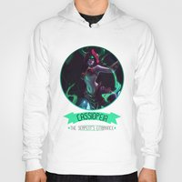 league of legends Hoodies featuring League Of Legends - Cassiopeia by TheDrawingDuo