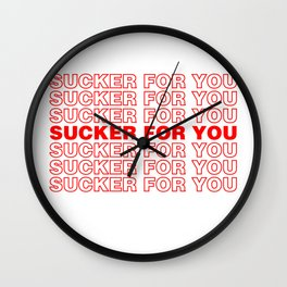 Jonas, Sucker for you, Gift for her Wall Clock