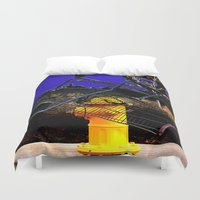 sale Duvet Covers featuring Fire Sale by Jeffrey J. Irwin