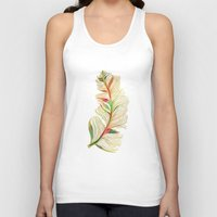 feather Tank Tops featuring Feather by Klara Acel