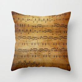 Yesterday's Music Throw Pillow