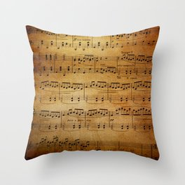 Yesterday's Music Throw Pillow