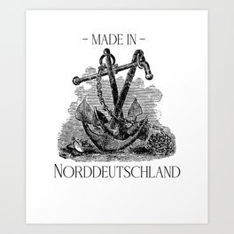 Made in North Germany North Sea T-shirt gift Art Print