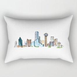downtown dallas skyline Rectangular Pillow