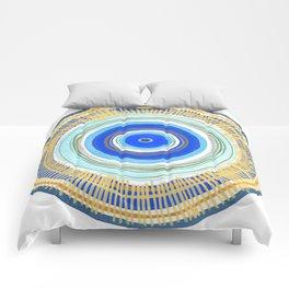 Turquoise Evil Eye Mandala Comforters