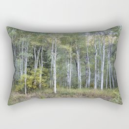 Aspens Along the Road to Maroon Bells, No. 1 Rectangular Pillow