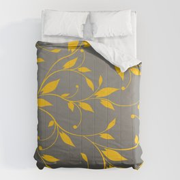 FLOWERY VINES | grey yellow Comforters