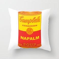 Napalm Soup Throw Pillow