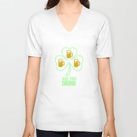 patrick V-neck T-shirts featuring St Patrick  by Barbo's Art