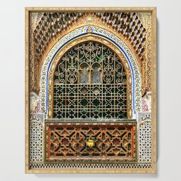 Stunning wall/window in Morocco Serving Tray