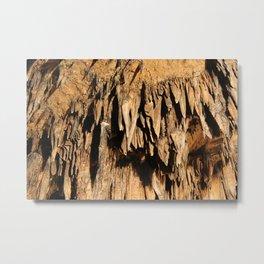 Cave Rock Stone Sharp inside crystal Metal Print