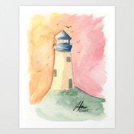 Lighthouse Impressions III Art Print