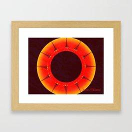 Abstract Sun Framed Art Print