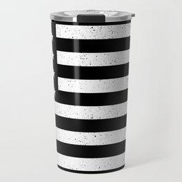 Black and White textured US flag Travel Mug