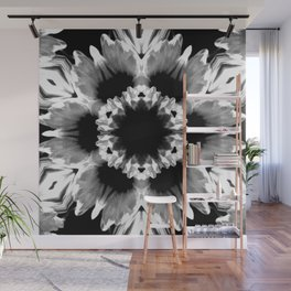 Daisies In Abstract Wall Mural