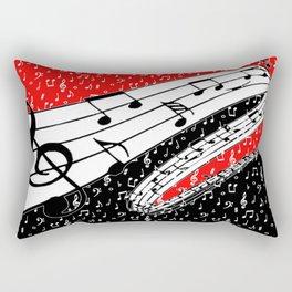 Red and black music theme Rectangular Pillow