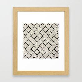 Black Bege Modern Lines Pattern Framed Art Print