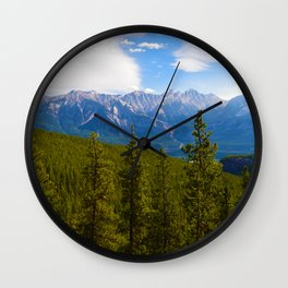 Collin Range as seen from the Palisades in Jasper National Park, Canada Wall Clock