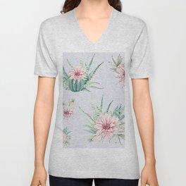 Cactus Pattern Light Blue #society6 #buyart Unisex V-Neck