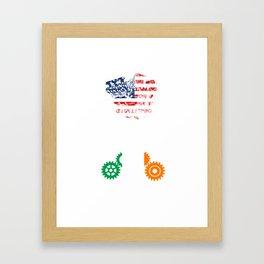 American machine Irish gears Framed Art Print