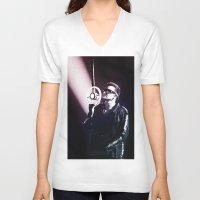 u2 V-neck T-shirts featuring U2 / Bono 4 by JR van Kampen