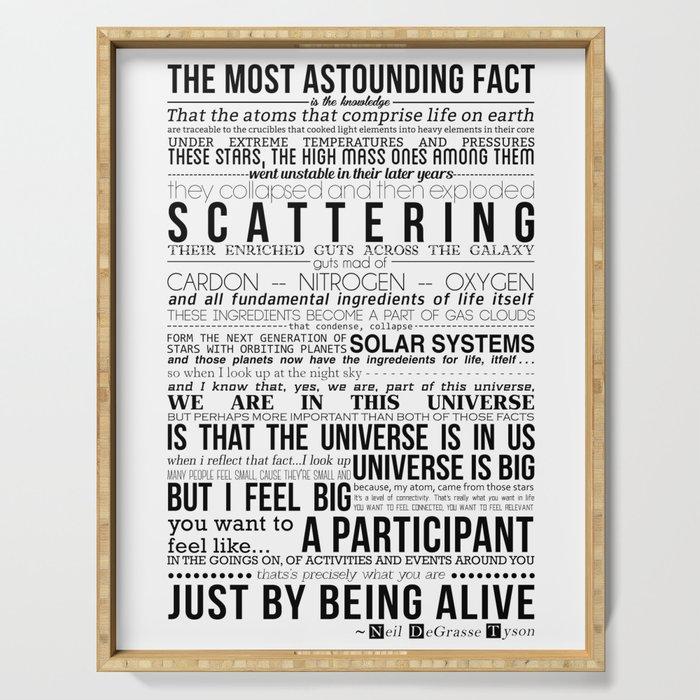Neil DeGrasse Tyson Science Manifesto Serving Tray