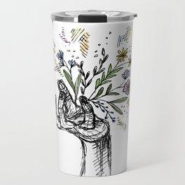 Flower-power Travel Mug