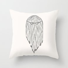Hair and glasses. Throw Pillow
