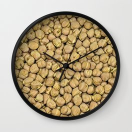 Hummus Pills Pattern Mix Wall Clock